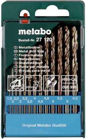 Набор сверел Metabo HSS-Co 13шт 627120000 набор сверел metabo 13шт 627161000
