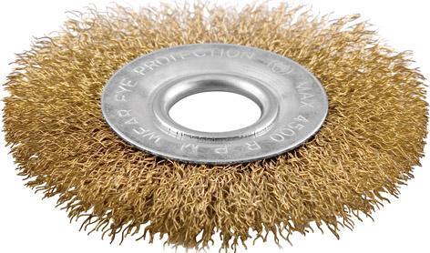 Картинка для Кордщетка КУРС 39026  дисковая прямая для ушм латунированная 150мм