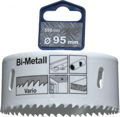 Коронка биметаллическая KWB 598-095 коронка hss bi-metall 95мм коронка kwb 4997 00