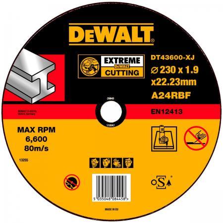 Круг отрезной DeWALT DT43600-XJ для УШМ 230х22.2х1.6мм EXTREME тип 1 плоский по металлу круг алмазный dewalt dt3722qz
