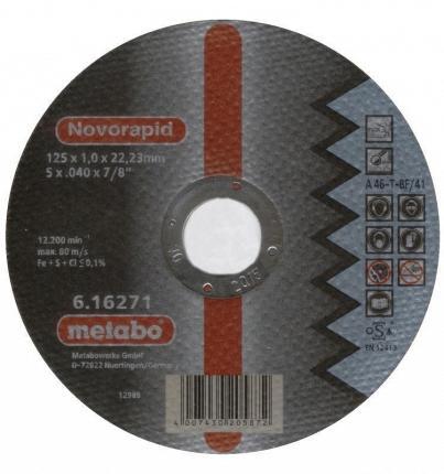 Круг отрезной METABO 617127000 SP-Novorapid 150x1.0x22.23мм по нержавеющей стали круг отрезной metabo 180х1 6х22 616508000