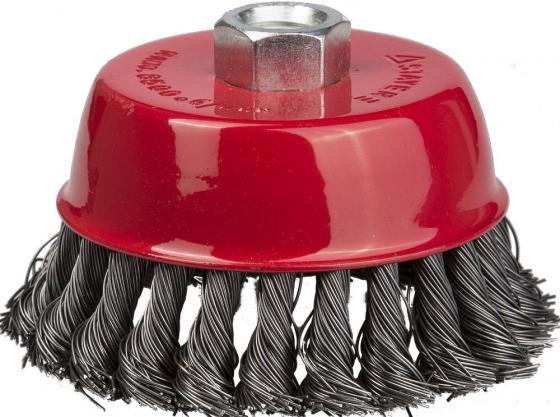 Кордщетка STAYER 35128-080_z01 чашечная для УШМ плетёные пучки проволоки 0.5мм 80мм/М14