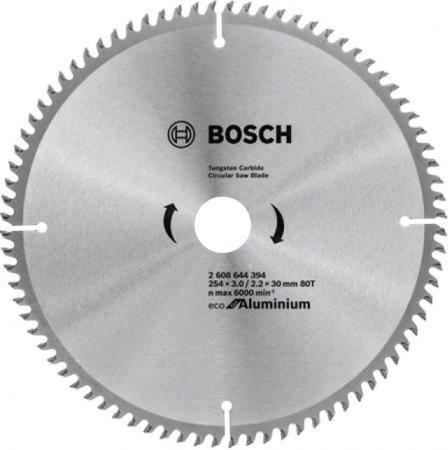 Пильный диск Bosch ECO ALU/Multi 254x30-80T 2608644394 диск пильный твердосплавный bosch eco wo 254x30 40t 2 608 644 383 по дереву