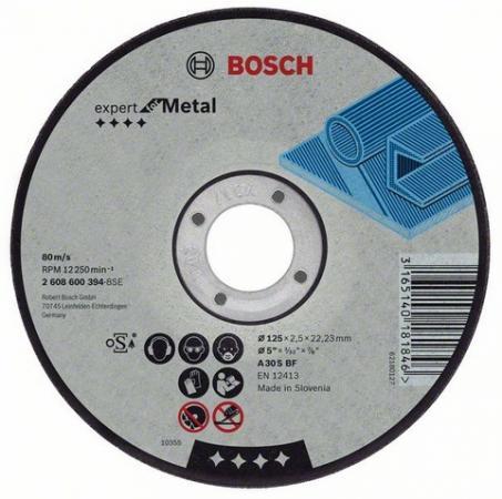 Круг отрезной BOSCH Expert for Metal 115x1,6x22 (2.608.600.214) по металлу отрезной круг по металлу bosch expert 230х1 9мм прямой 2608603400