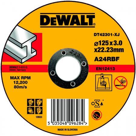 Круг отрезной DeWALT DT42301-XJ для УШМ 125х22.2х3.0мм тип 1 плоский по металлу все цены