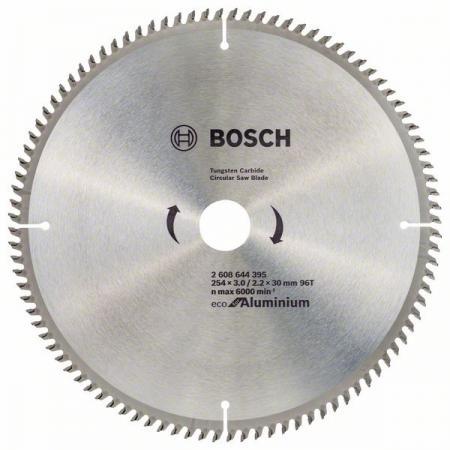 Диск пильный твердосплавный BOSCH ECO AL 254x30-96T (2.608.644.395) по алюминию диск пильный твердосплавный bosch eco wo 254x30 40t 2 608 644 383 по дереву