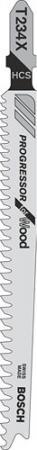 купить Пилка для лобзика BOSCH T234X PROGRESSOR (2.608.633.528) мягк.дерево\ДСП, 117мм, шаг 2.0-3.0, HCS, по цене 620 рублей