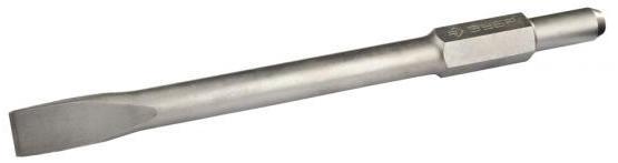 Зубило ЗУБР 29373-40-410 ПРОФЕССИОНАЛ плоское для молотка HEX хвостовик 30мм 410мм зубило зубр 29233 40 250