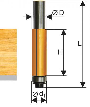 Фреза ЭНКОР 10524 кромочная прямая ф12.7х38мм хв12мм фреза энкор 9261