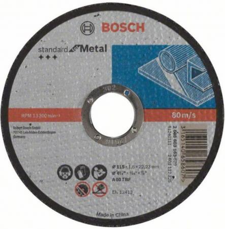 Отрезной круг Bosch Standard 115х1.6мм SfM 2608603163 система мониторинга транспорта sfm 100