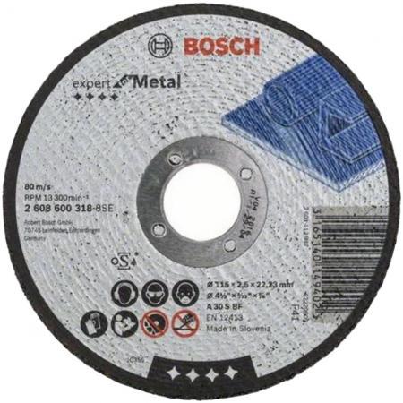 Отрезной круг Bosch 115х2.5мм 2608600318 круг отрезной sturm 9020 07 230x25