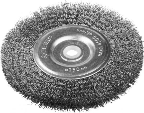 Кордщетка ЗУБР 35185-150_z01 ЭКСПЕРТ дисковая для станка витая сталь 0.3мм 150/12.7мм все цены