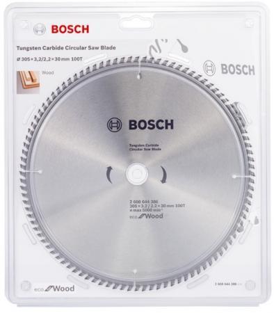 Диск пильный твердосплавный BOSCH ECO WO 305x30-100T (2.608.644.386) по дереву диск пильный твердосплавный bosch eco wo 254x30 40t 2 608 644 383 по дереву