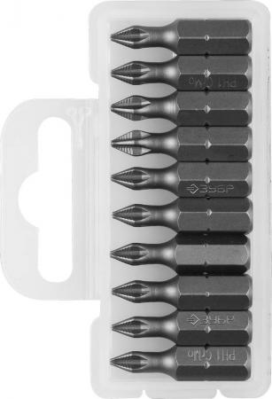 Бита ЗУБР МАСТЕР 26001-1-25-10 кованая CrMo C 1/4 PH1 25мм 10шт цена