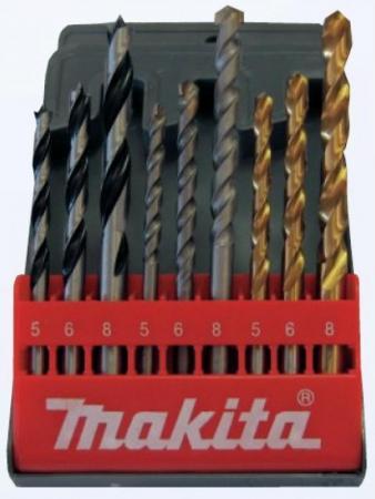 Набор сверел Makita D-08660 по бетону/металлу/дереву 9шт сверло makita по дереву металлу бетону 9шт d 08660