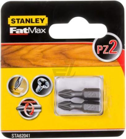 Бита STANLEY STA61041-XJ PZ2х25мм 2 шт stanley 36030 xj щетка чашечная для дрели d50 мм