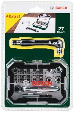 Набор бит BOSCH 26 с трещеткой (2.607.017.392) + угловая отвертка набор бит практика diy 31 шт отвертка с трещеткой 2 мини отвертки 775 136