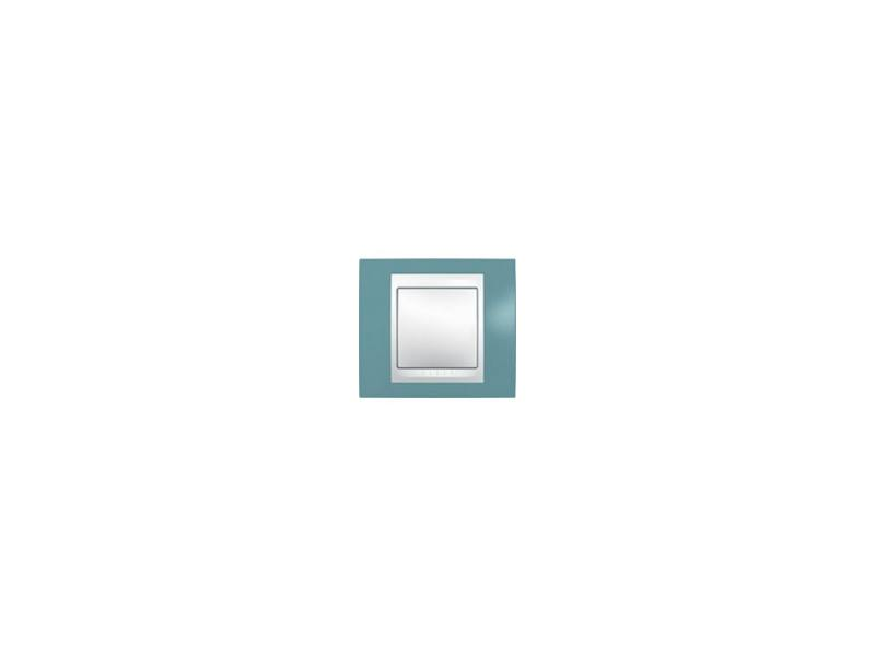 Рамка 1 пост синий/бежевый Schneider Electric Unica MGU6.002.573