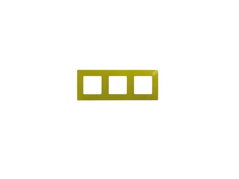 Рамка Legrand Etika 3 поста зеленый 672543