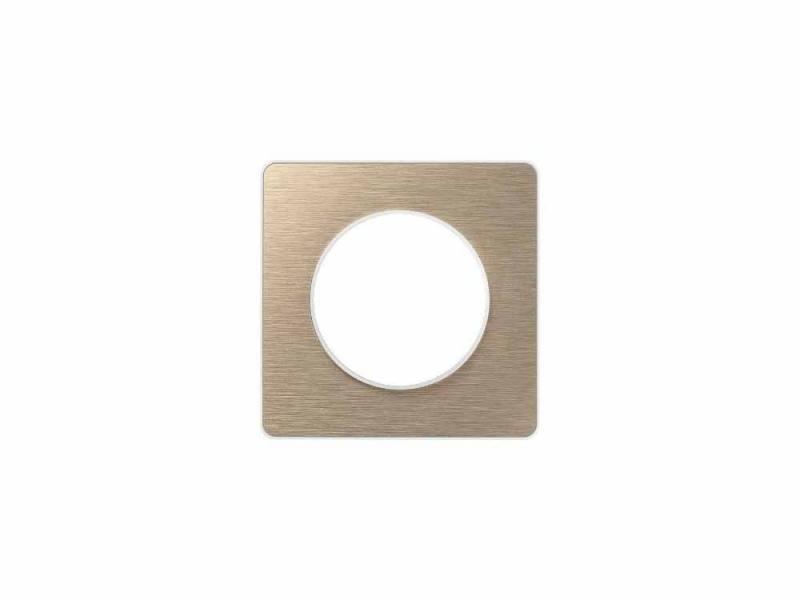 Рамка 1 пост полированная бронза ODACE S52P802L schneider se odace полированная бронза белый рамка 4 я s52p808l