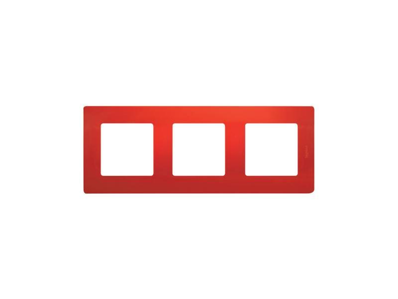 Рамка Legrand Etika 3 поста красный 672533