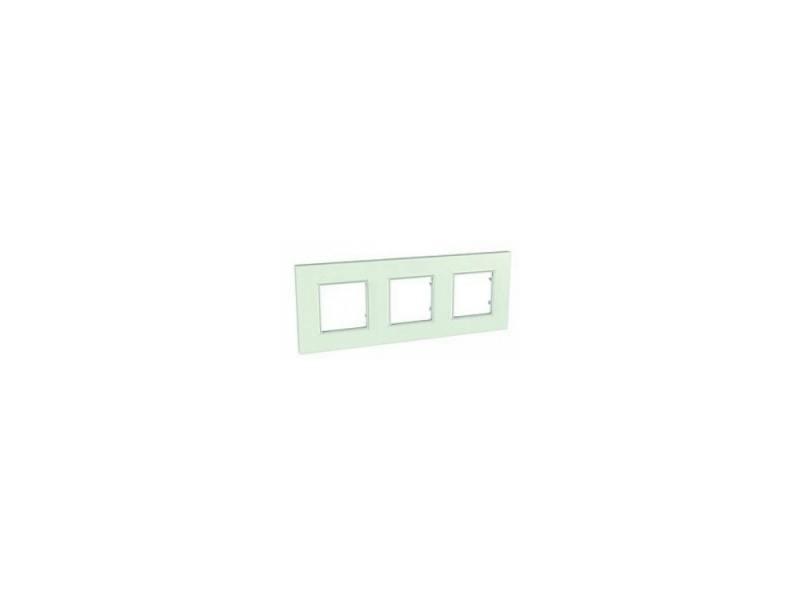 Рамка 3 пост матовое стекло Schneider Electric MGU2.706.17 gira gira esp glass c салатовое стекло рамка 5 ая 0215518