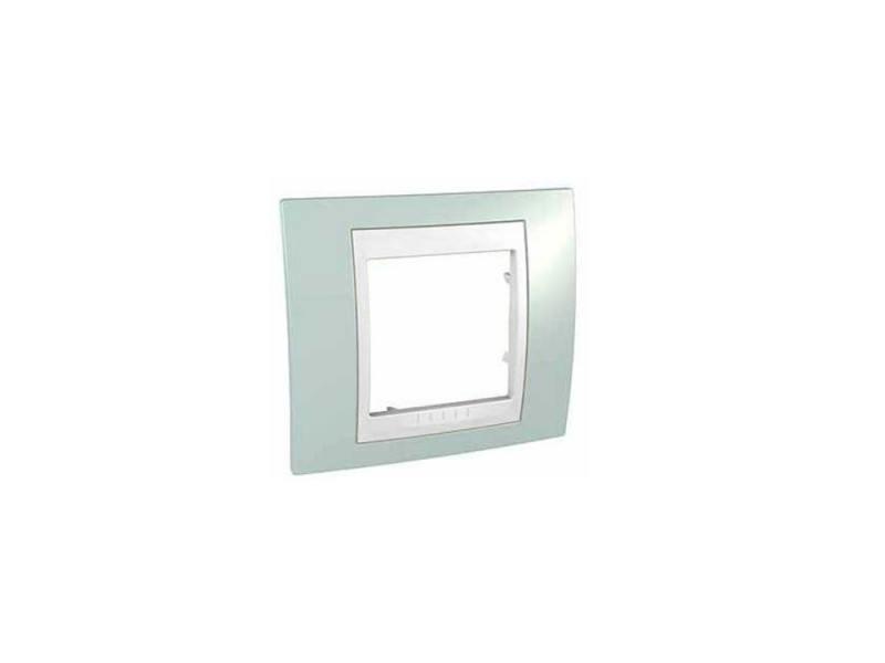 Рамка 1 пост морская волна/белый Schneider Electric MGU6.002.870