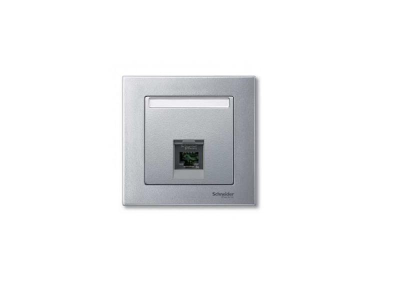 Накладка для розетки алюминий Schneider Electric MTN465860