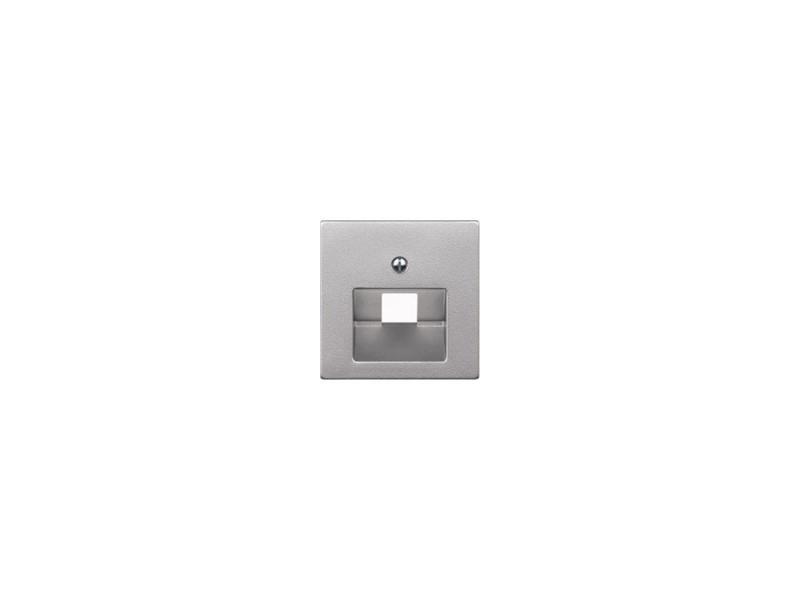 Накладка для розетки МЕХ-МОВ RJ45 алюминий Schneider Electric MTN298360