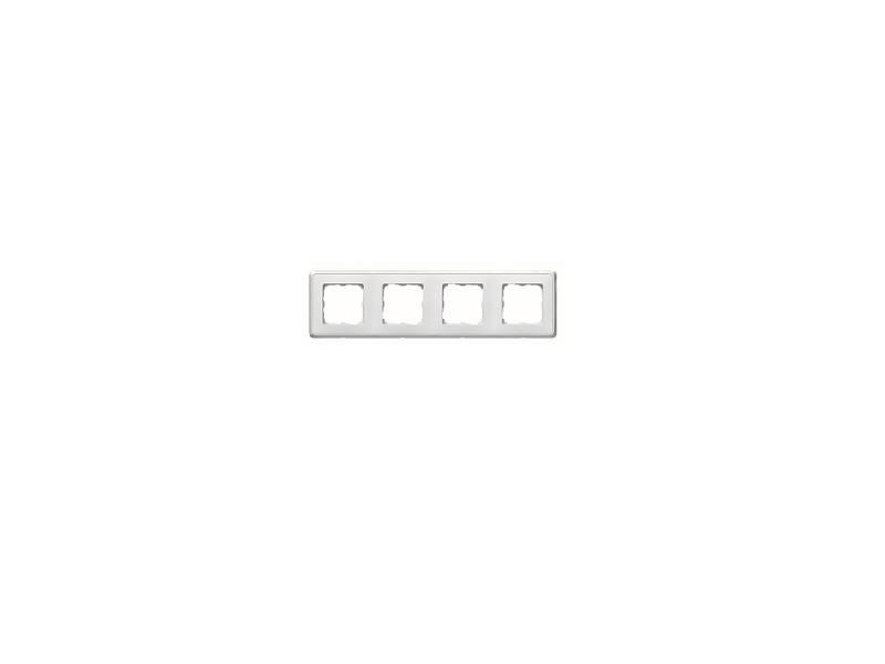 Рамка Legrand 4 поста горизонтальная слоновая белый 773654
