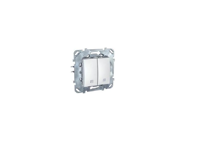 Выключатель Schneider Electric 2-клавишный для жалюзи белый MGU5.208.18ZD выключатель schneider electric odace для управления приводом жалюзи белый s52r207