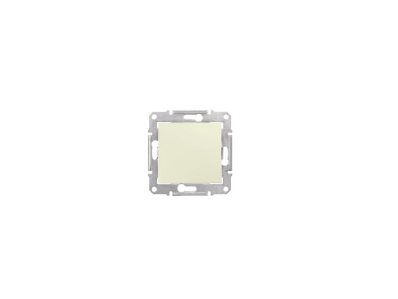 Выключатель Schneider Electric 1-клавишный бежевый SDN0100147 выключатель schneider electric 1 клавишный алюминий mgu5 206 30zd