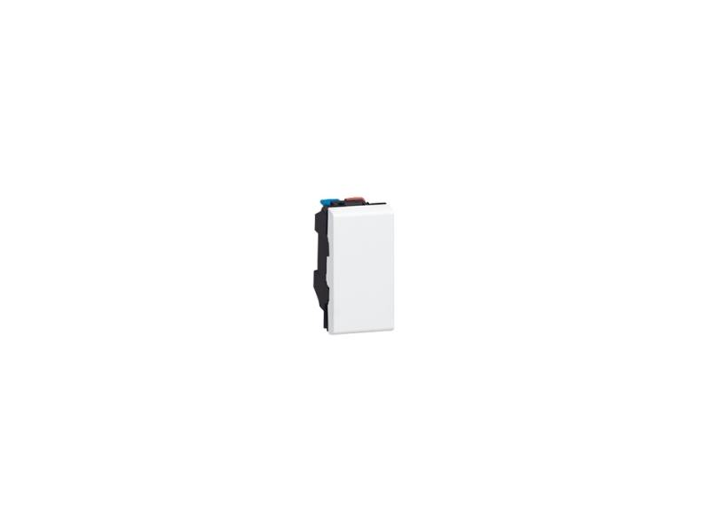Выключатель Legrand Mosaic 10А/250В белый 1 модуль 77000 мозаика elada mosaic cb512 327x327x4мм шоколадная 10 шт