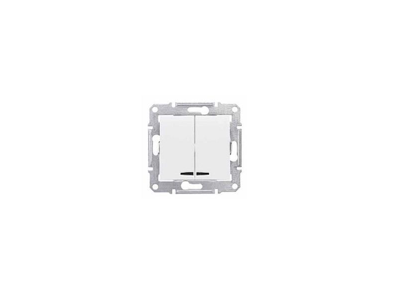 Выключатель Schneider Electric 2-клавишный белый SDN0300321