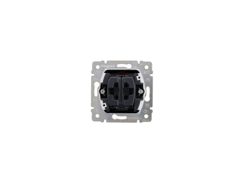 Выключатель Legrand Galea life 775805 выключатель legrand quteo 2 клавишный серый 782332