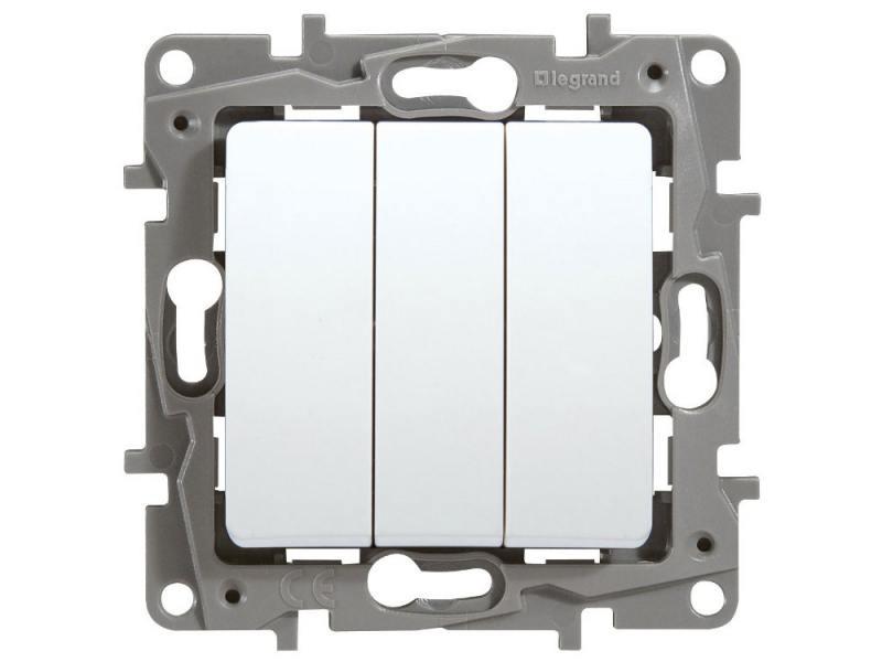 Выключатель Legrand Etika 3-клавишный белый 672213 механизм выключателя legrand etika белый 2 клавишный 672202