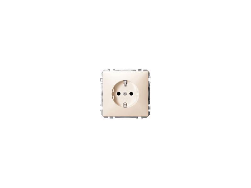 Розетка Schneider Electric с заземлением со шторками бежевый MTN2300-4044 розетка abb bjb basic 55 шато 2 разъема с заземлением моноблок цвет чёрный