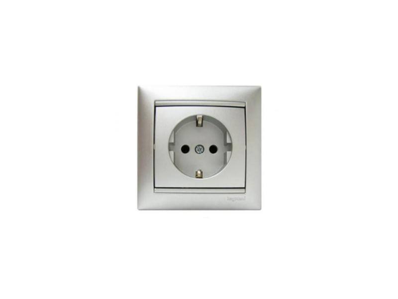Накладка на розетку Legrand Valena 2К алюминий 770116 gira gira s 55 алюминий накладка ввода кабеля 027426