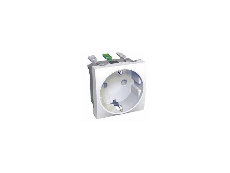 Розетка двойная Schneider Electric 2P+E со шторками белый ALB45287