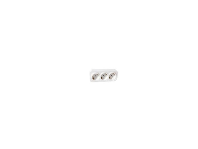 Розетка Legrand Quteo 3x2К+З с защитными шторками белый 782218