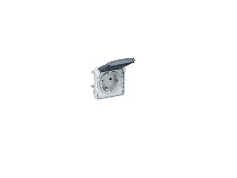 Розетка Legrand Plexo 2К+З 69571 монтажная коробка legrand plexo 1 пост белый 69689