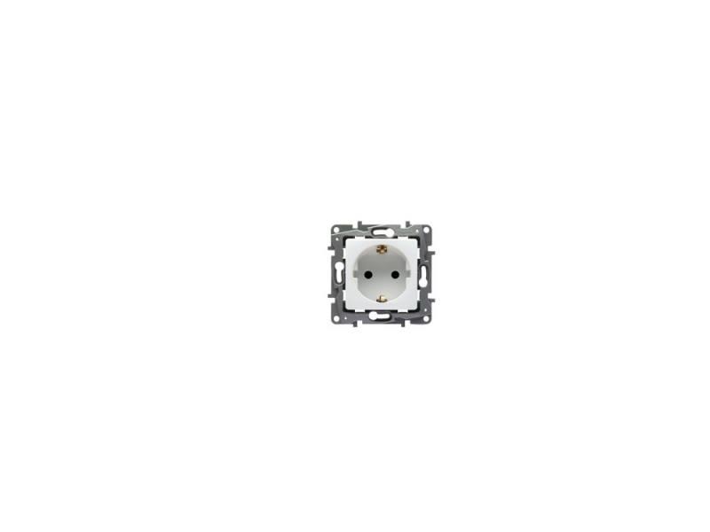 Розетка Legrand Etika 2К+З белый 672221 механизм выключателя legrand etika белый 2 клавишный 672202