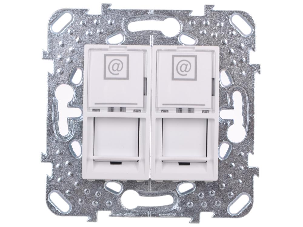 Розетка компьютерная Schneider Electric Unica MGU5.2020.18ZD 2хRJ45 кат. 5e белый