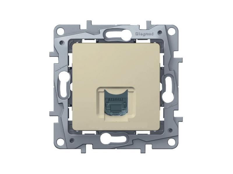 Розетка информационная Legrand Etika RJ45 кат.6 UTP слоновая кость 672353