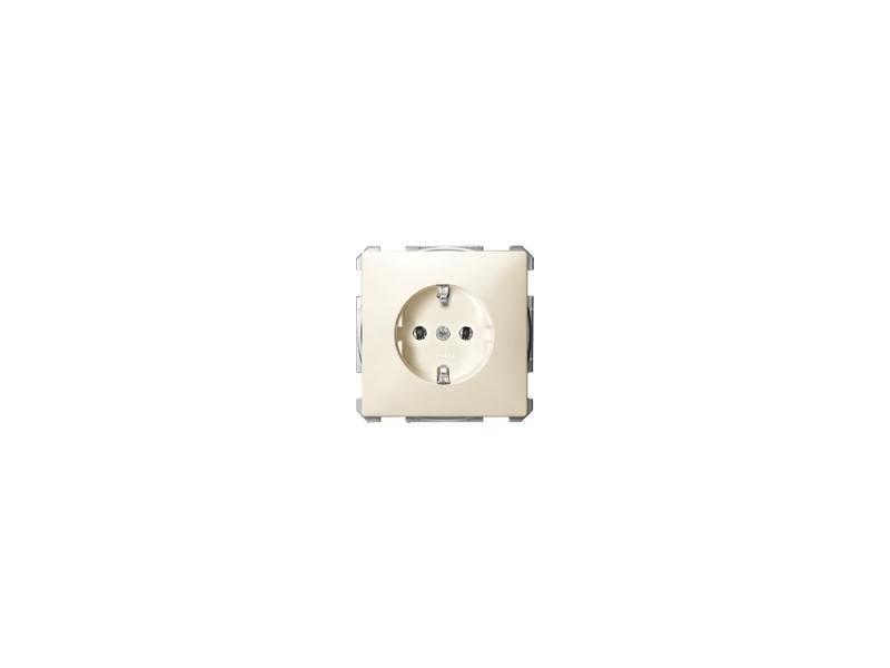 Розетка Schneider Electric безвинтовой зажим бежевый MTN2301-4044