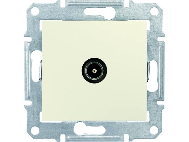 Розетка TV Schneider Electric Sedna оконечная бежевый SDN3201647