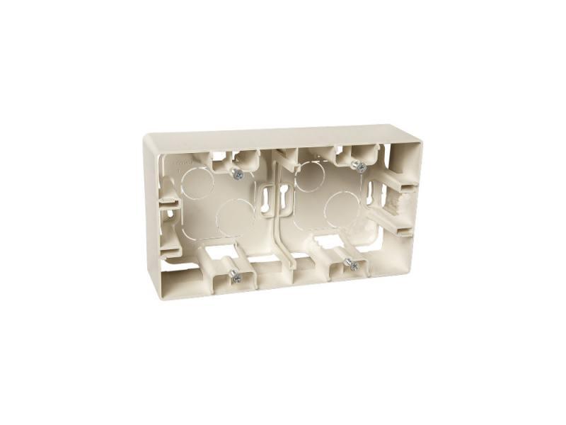 Коробка накладная Legrand ETIKA 2 поста слоновая кость 672540