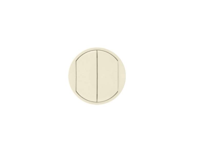 Лицевая панель Legrand Celiane для выключателя двойного слоновая кость 66201