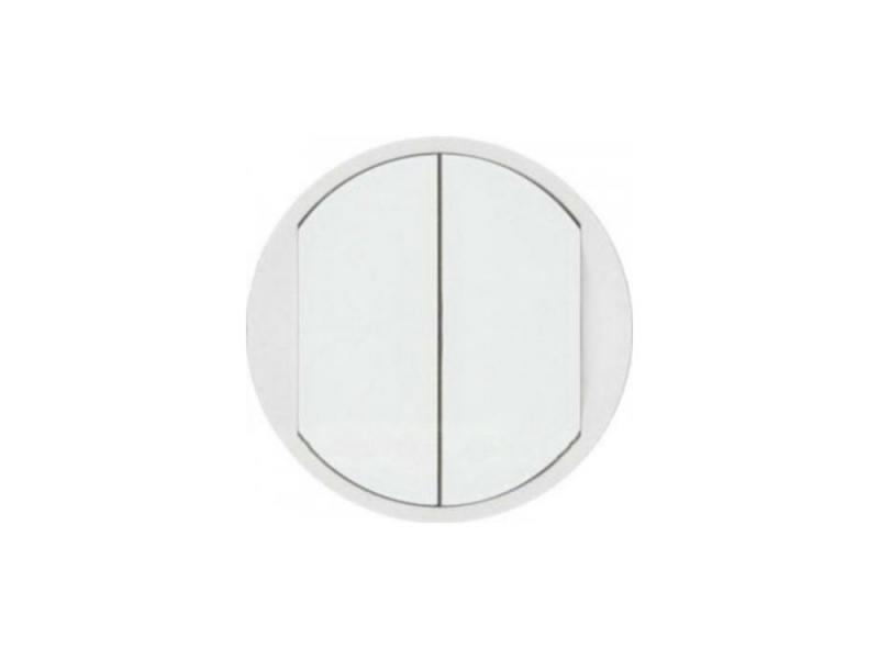 Лицевая панель Legrand Celiane для для выключателя двойного белый 68002 лицевая панель legrand celiane для заглушки белый 68143