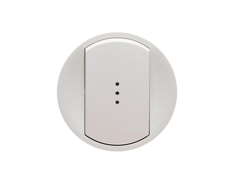 Лицевая панель Legrand Celiane для выключателя с индикацией белый 68003 лицевая панель legrand celiane для заглушки белый 68143